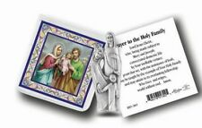 "The Holy Family, 1 3/4"" Statue, Pouch,  Gold-Stamp Prayer Card, 6 Pack"