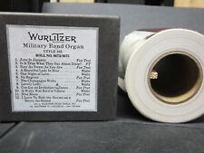 Wurlitzer 165 Recut Band Organ Roll #6673-6675