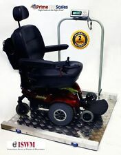LWC-800 Wheel chair Scale with Ramps Handrail Indicator 800 lb