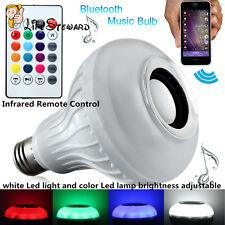 E27 Wireless Bluetooth Control Music Audio Speaker LED RGB Smart Bulb Lamp