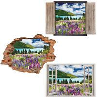 Window Wall Sticker Decal Vinyl 3D Beach View Ocean home art room decor
