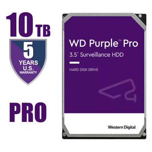 "Western Digital Purple Pro 10TB Surveillance Hard Drive 3.5"" WD101PURP"