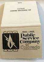 Old Matchbook Cover Public Service Company Of Colorado