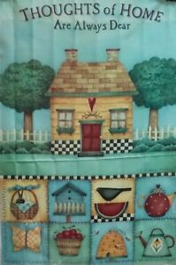 """Thoughts of Home Standard House Flag by Toland 24"""" x 36"""", Colorfast! #950"""
