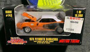 1998 Racing Champions 1970 PLYMOUTH BARRACUDA #143 Orange 1:59 MIB C-7.5