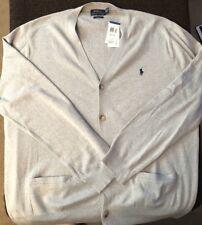 Polo Ralph Lauren Cardigan 100% Pima Cotton Gray 2XL XXL $125.00