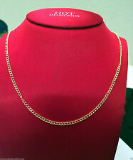 "14k Yellow Gold Cuban Link Miami Hollow Chain Necklace 2MM 16"" inch 2 MM"