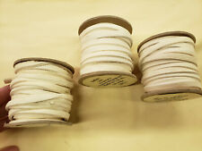Leather Buffalo/Bison Lace 1/4in X 25ft Spool Off White Color