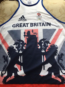 Adidas Olympic Official Team GB Vest Size 16