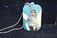 MICHAEL JACKSON IN ICONIC HISTORY POSE DOUBLE-SIDED DOG TAG NEW