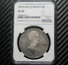 1814/3 MO JJ Mexico 8 Reales NGC VF35 - Bold Overdate! (63013)