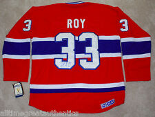 PATRICK ROY SIGNED MONTREAL CANADIENS HABS #33 JERSEY w/COA HALL OF FAME GOALIE