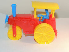 Rubber Band Wind Up Steam Roller Plastic Toy made in USA (9309)