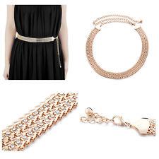 Ladies Gold Rhinestone Hip And Waist Belt Chain Charm Diamante Diamonds Buckle