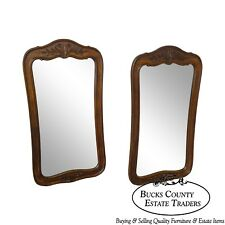 French Country Pair of Fruitwood Carved Wall Mirrors Chateau by White Furniture