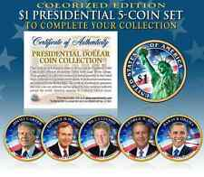 2016 Presidential $1 Dollar Coins 2-Sided COLORIZED 5-Coin Set LIVING PRESIDENTS