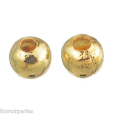 500 Perles intercalaires Lisse Rond Doré 4mm Dia.