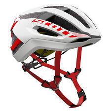Casco Scott Helmet Centric Plus colore Bianco-rosso Taglia S