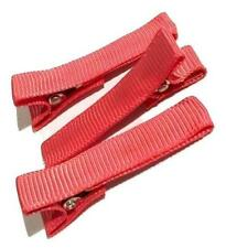 """3 pieces Coral partially lined alligator clips 1.8"""" DIY hair bow supplies"""