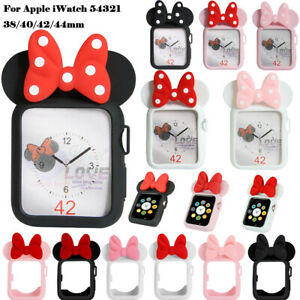Cartoon Mickey Minnie Mouse Cover Case for Apple Watch 5 4 3 21  38/42mm 40/44mm