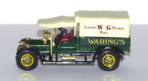 MATCHBOX Y-13 1/43 SCALE MODEL 1918 CROSSLEY WARING'S DELIVERY TRUCK. MADE 1973