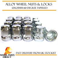 Wheel Nuts & Locks (12+4) 12x1.25 Bolts for Nissan Almera Tino 00-05
