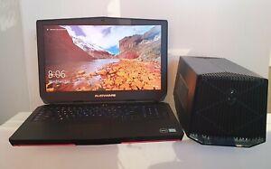 i7 + 32GB + 1.5TB NVME Alienware 17 R3   Graphics Amplifier + Desktop GTX 1080