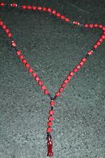 #208 ROSARIO RED COLOR SANTA MUERTE rosary skulls RITUALIZADO amor atraccion