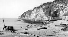 PHOTO  DEVON  BEACH AT BEER 1960 VIEW - STILL SIMILAR TODAY