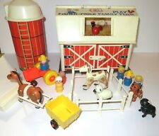 New ListingVintage 1967 Fisher Price Play Family Farm 915 Little People - Almost complete