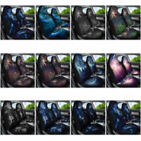 Galaxy Wolf Car Seat Covers Set Auto Accessory Universal 2pcs Interior Decor