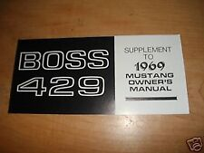 1969 FORD MUSTANG BOSS 429 OWNERS MANUAL SUPPLEMENT