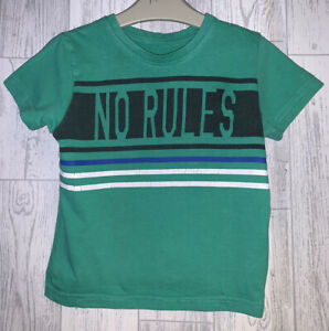 Boys Age 2-3 Years - Short Sleeved T Shirt 'No Rules'