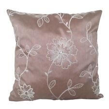 "Satin Pink Flower Embriodery 18x18"" Decorative/Throw Pillow Case / Cushion Cover"