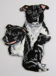 Staffordshire Terrier dog heat seal embroidered badge