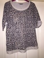 Dorothy Perkins Animal Print Sweater Top, Size 12 - Lovely!