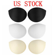 1 Pair Womens Removable Push Up Sponge Foam Bra Inserts Pads Replacement Sports