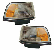 PAIR Corner Lights - Left & Right Side - Fits 87-91 Toyota Camry Sedan & Wagon