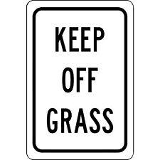 """Keep Off Grass Aluminum Metal 8"""" x 12"""" Sign - Will Not Rust"""