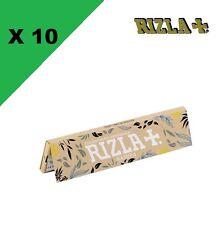 Rizla + Slim Natura lot de 10 carnets de Feuille à rouler bio
