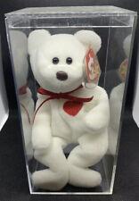 Beanie Baby, Valentino the Bear. RARE! Brown Nose, PVC Pellets, Errors!