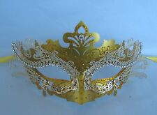 Gold Metal Venetian Party Masquerade Mask * NEW * Express Post Option Available
