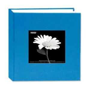 Pioneer DA100CBF BLUE Cloth Frame Photo Album, 4x6-100