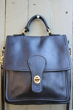 Vintage Coach 5130 black leather Station turnlock crossbody purse