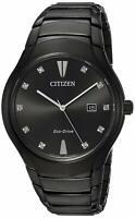 Citizen Eco-Drive Men's Paradigm Diamond Accent Black 40mm Watch AW1555-56G