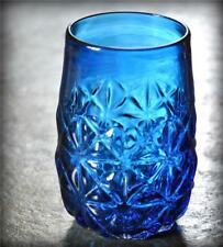 "Blenko Persian Blue 5"" Tumbler Vase Vintage Husted Mold Blown Design MCM Glass"