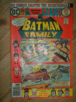 BATMAN FAMILY # 6 1st APP JOKER'S DAUGHTER 52-PAGE 50c BRONZE AGE DC COMIC BOOK