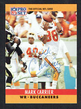 Mark Carrier #309 signed autograph auto 1990 Pro Set Football Trading Card