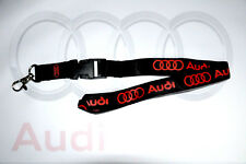Audi lanyard keychain Q5 Q7 A3 A4 A5 A6 A7 A8 R8 RS5 RS7 S4 S5 S6 S7 TT Quattro