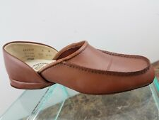 Evans Brown Leather Slip on Hand Turned Casual Comfort Loafer Shoes Mens 8M USA